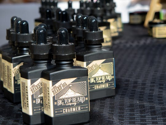 Pictured are products offered by Big Top Beard Oil