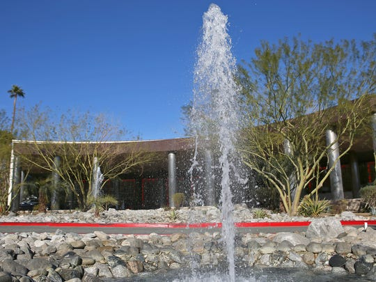Despite the drought, the fountains are still gushing at the Riviera Palm Springs.