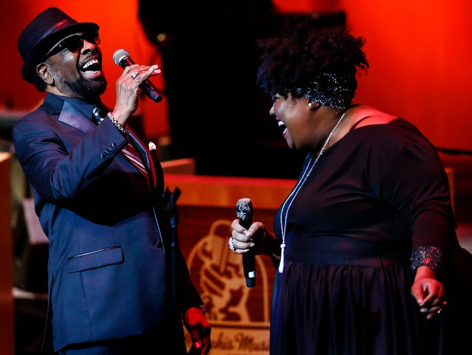 Stax Records star William Bell (left) performs with