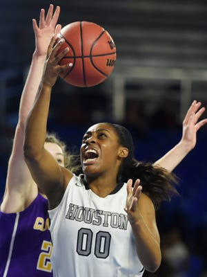 Star junior Jayla Hemingway and Houston open the year at No. 1 in The Commercial Appeal's girls basketball Dandy Dozen.