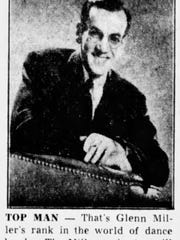 A photo of Miller in the Asbury Park Press shortly before his Labor Day show at Convention Hall in 1942.