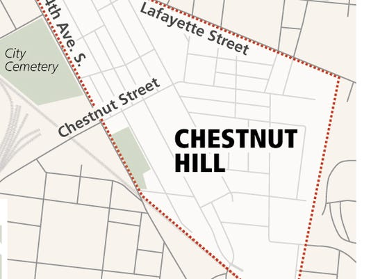 Chestnut Hill map