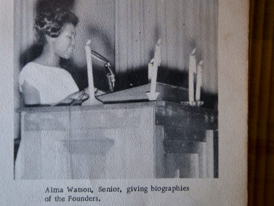A picture of Alma Watson Clark in her yearbook from