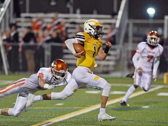 Red Lion quarterback Zach Throne threw for 17 touchdowns and rushed for 19 more his senior season in 2017.