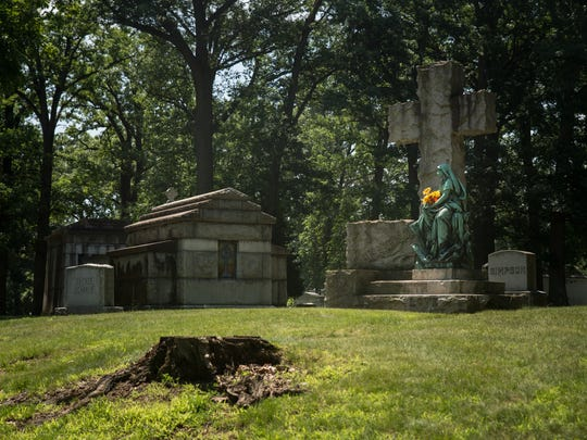 Woodlawn Cemetery in Detroit on Friday, June 29, 2018.