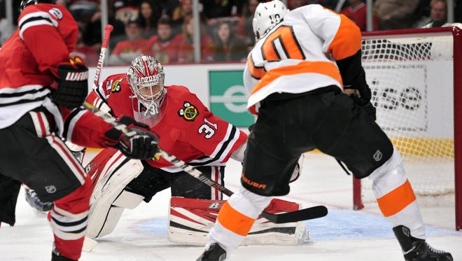The Flyers had a hard time last time they were in Chicago, a 7-2 loss last December.