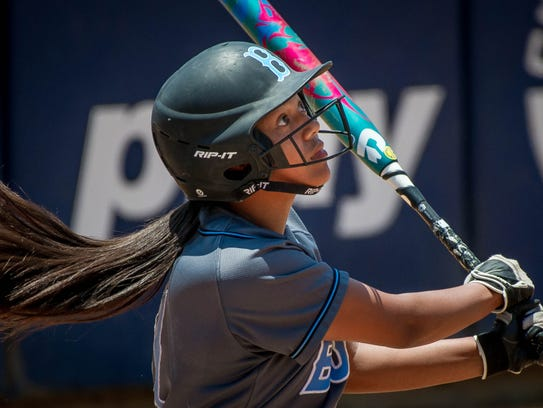 Buena star Jenessa Ullegue, who helped slug the Bulldogs to the CIF-SS Division 4 championship last year, has moved into the pitcher's circle as a senior.