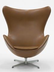 """""""Egg"""" armchair designed by Arne Jacobsen, c. 1957."""