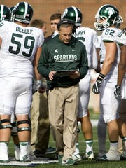 Michigan State coach Mark Dantonio says a competitive