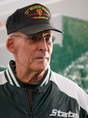 Retired Army Col. Richard Lowe of Oviedo, Florida, returned to Michigan State University and the MSU ROTC building for the first time in almost 50 years on Friday, November 3, 2017. Lowe has cancer and wanted to visit his alma mater before it's too late.