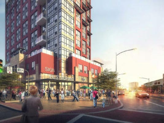 The rendering for the 434-unit Lennar project in White Plains