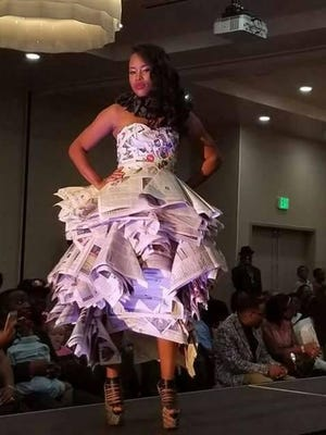 Latoya Scott struts the runway during FTM Fashion Week in Jacksonville. This year's event is slated for Nov. 20-21 at the Hilton Garden Inn.