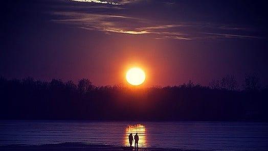 Prairie Creek Reservoir sunset