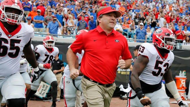 Georgia Bulldogs head coach Kirby Smart.