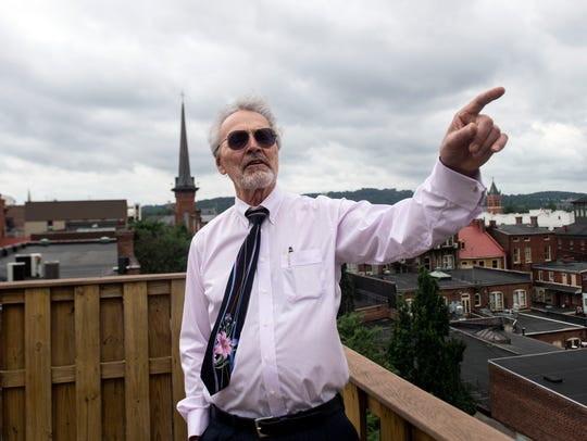 William Hoffmeyer points out the changing downtown