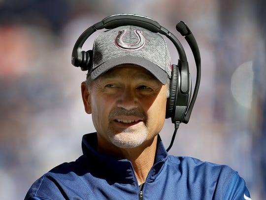 Colts coach Chuck Pagano is  44-27 since arriving in
