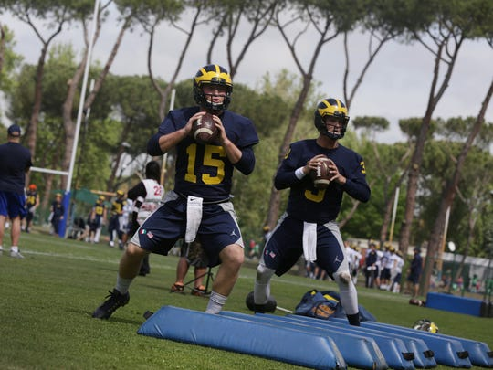 The Michigan football team had their first practice