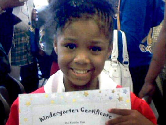 Za'Layia Jenkins, 9, was killed by a stray bullet in