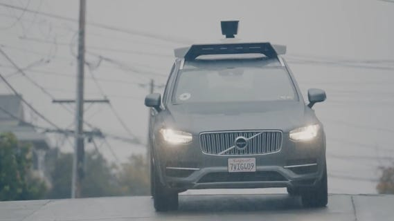 Uber's self-driving Volvo.