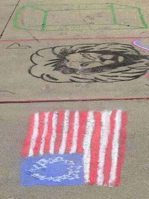 """First Friday """"Chalk the Walk"""" in downtown Canton, Jun 5, 2019."""