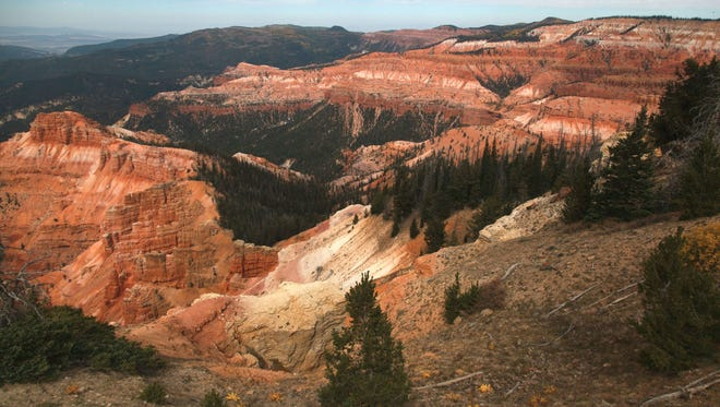 A view of Cedar Breaks in southwest Utah during the month of September as the weather begins to change.