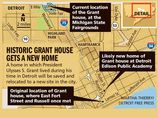 Historic Grant house gets a new home.