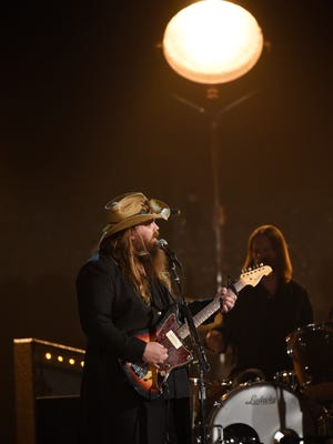 Chris Stapleton performs during the 51st Academy of County Music Awards at the MGM Grand Garden Arena on Sunday, April 3, 2016, in Las Vegas, NV.