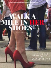 Walk a Mile in Her Shoes April 12 at ULM