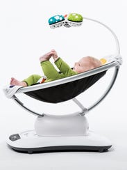 The mamaRoo baby seat can rock or sway infants in one