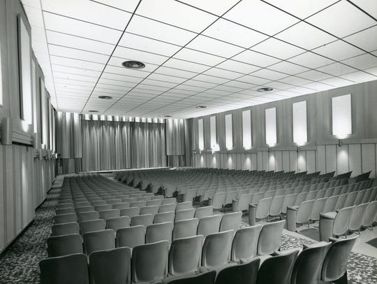Seating inside one of the auditoriums of Deux Cine