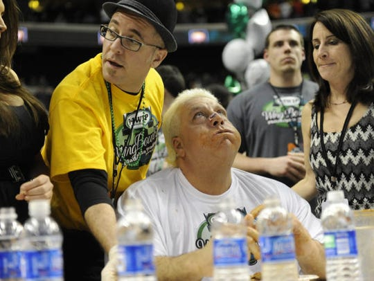 Wing Bowl 20 held at the Wachovia Center in Philadelphia.