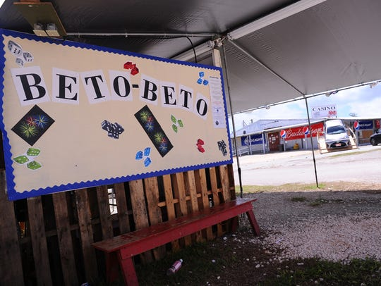 A Beto Beto booth at the Tiyan carnival grounds is shown in this file photo. Mayors want non-casino gambling restored to the Liberation carnival, and said there might no be carnival without some gambling events allowed.