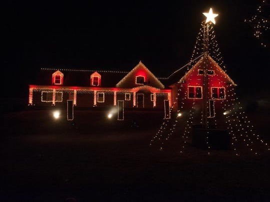 The Epp family home is the site of the Christmas Light