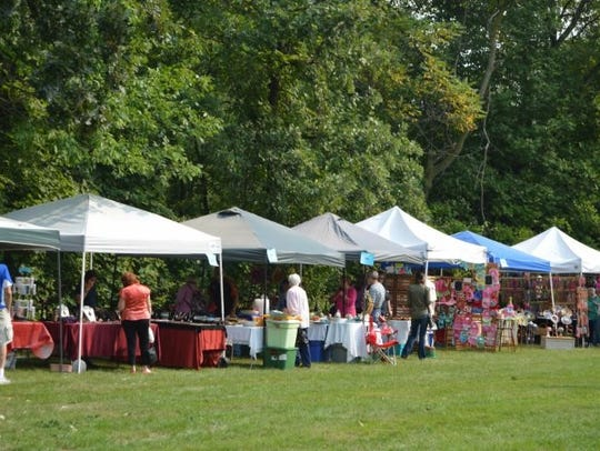 Pictured are some of the vendors at the Wade House