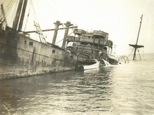 The La Paz British freighter was torpedoed off Cape