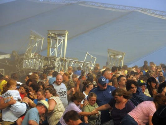 Indiana not liable for firm's claims in stage collapse