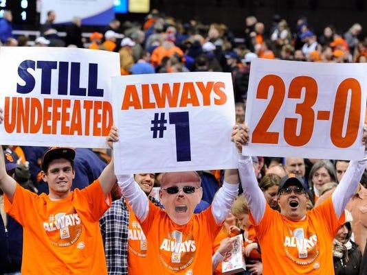 Syracuse Basketball Stays No 1
