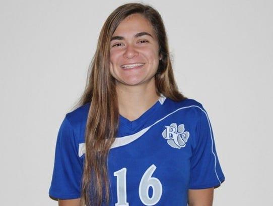 Caroline Peterson, Barron Collier girls soccer