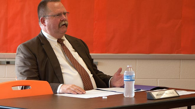 Brian Garverick during a school board meeting in 2015.