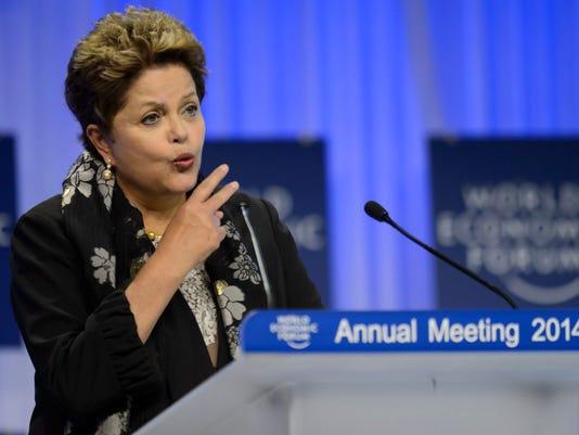 EPA SWITZERLAND WEF 2014 DAVOS