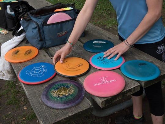 Golfers use an assortment of dics with different weights,