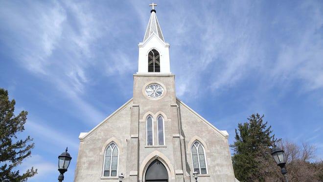 The St. Donatus Catholic Church, in St. Donatus, Iowa.