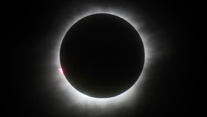 This March 9, 2016, file photo shows a total solar eclipse in Belitung, Indonesia.