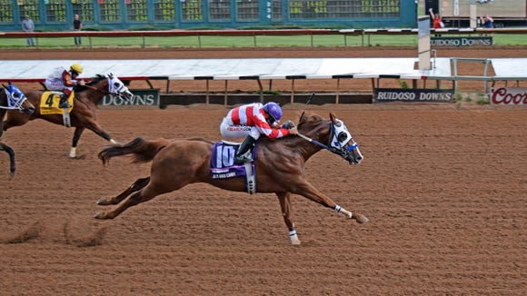 Jess Good Candy pushed his record to seven wins for seven starts with a tour-de-force victory in the record Grade 1, $1,068,631 Ruidoso Derby on Saturday afternoon at Ruidoso Derby.