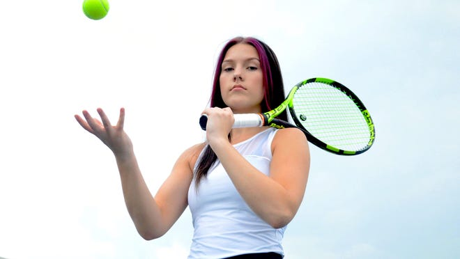 West Ottawa's Ava Wegmeyer is becoming a force on the tennis court.