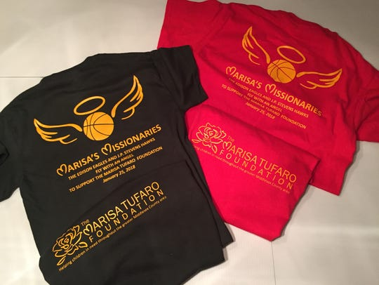 Specially designed T-shirts that Edison and J.P. Stevens