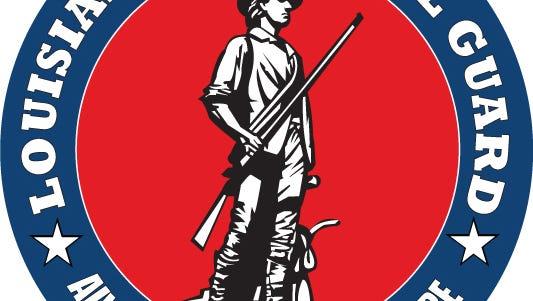 Louisiana National Guard logo.