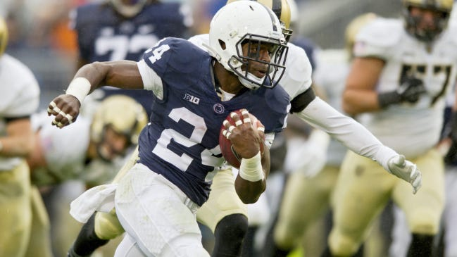 Nick Scott started his career at Penn State as a running back. As a fifth-year senior, he's poised to end his career as a starting safety. AP FILE PHOTO