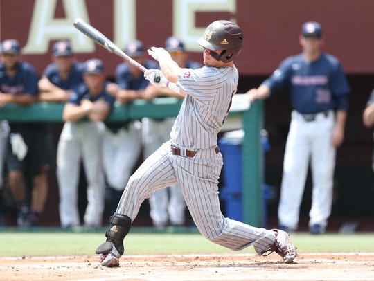 Mississippi State sophomore Tanner Allen is the Bulldogs progressing guy at the first base again.