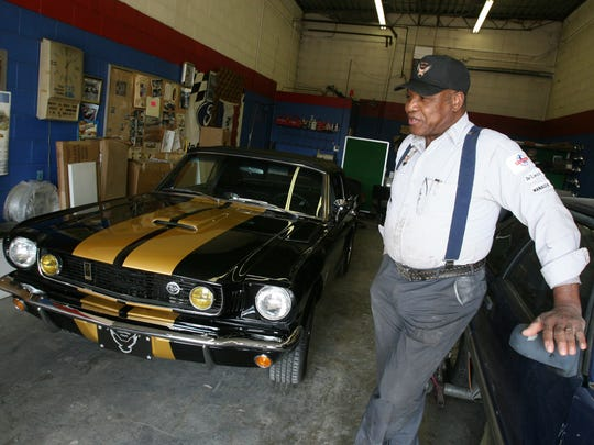 DeLonzo Rhyne has been restoring Mustang cars at the Triple R Mustang Ranch since 1971.